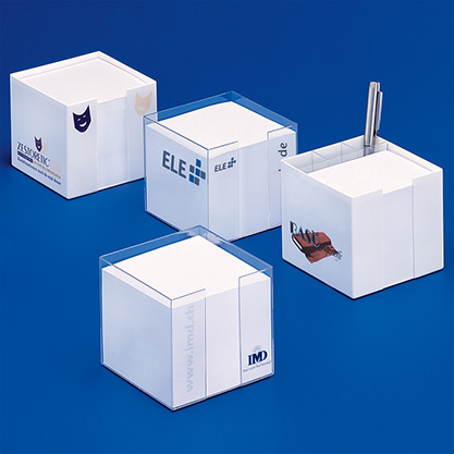 Standard 01/2 UE»Cubus« memo blocks in dispensers