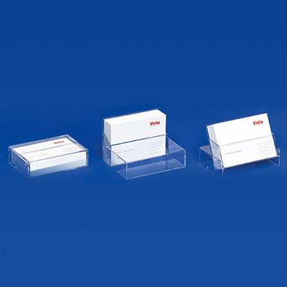 Visitenkartenspender mit 3-fach Funktion als Spender • Etui • Ständer VKS 3