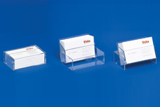 Business card dispensers with 3 functions: Case • Dispenser • Stand VKS 1