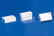 Business card dispensers with 3 functions: Case • Dispenser • Stand VKS 2