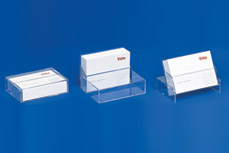 Business card dispensers with 3 functions: Case • Dispenser • Stand VKS 3